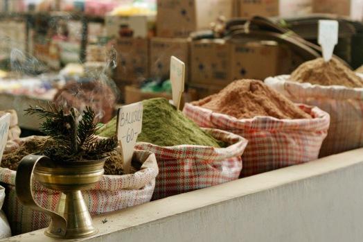 Gewürze auf dem Centenary Farmers Market in Thimphu