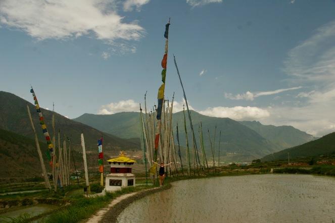 Kleine Tempel auf dem Weg zum Chimi Lhakhang