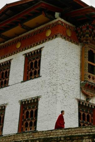 Mönch im Weißen Tempel im Haa Valley