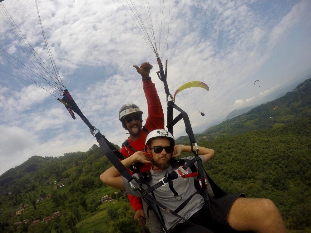 Entspanntes Paragliding