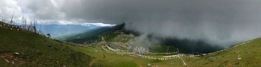 Panorama am Chele La Pass