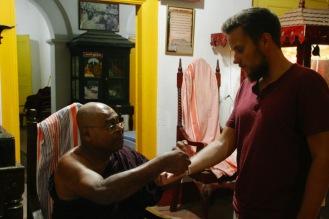 Segnung von einem Mönch