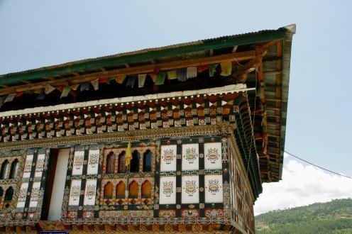 Traditionelle Häuser im Punakha Tal