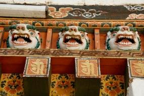 Wandverzierungen im Punakha Dzong
