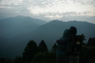 Wir blicken über die Himalayas - Fishtail und Annapurna South