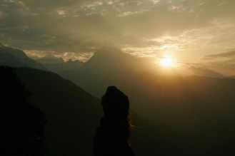 Wunderschöner Sonnenaufgang gegen 5.30 Uhr am dritten Trekkingtag