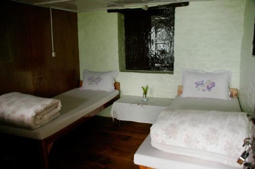 Zweibettzimmer in einem der Teehäuser, hier in Ghandruk