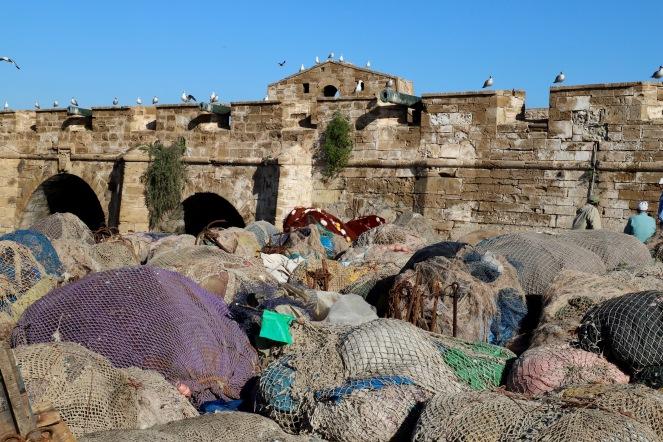 Essaouira - Festung und unzählige Fischernetze