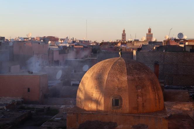 Marrakesh - Sonnenuntergang über den Dächern der Stadt