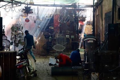 Marrakesh - weniger touristische Souks im Herzen der Medina