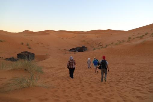 Sahara Tour - Ankunft im Berber-Camp