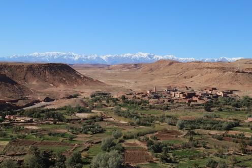 Sahara Tour - Blick von Ait Ben Haddou