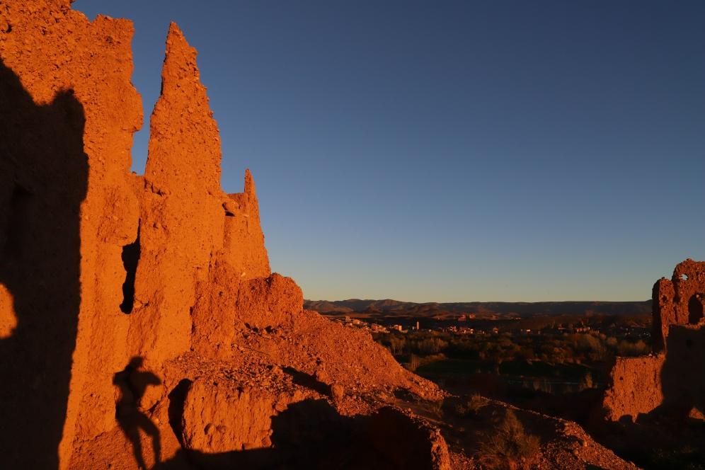 Sahara Tour - tolle Farben beim Sonnenuntergang im Dades Tal