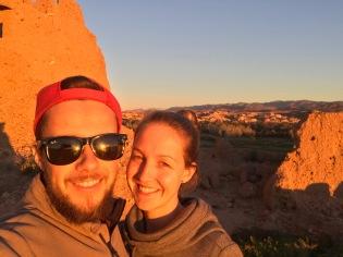 Sahara Tour - wahnsinnig schöne Farben beim Sonnenuntergang