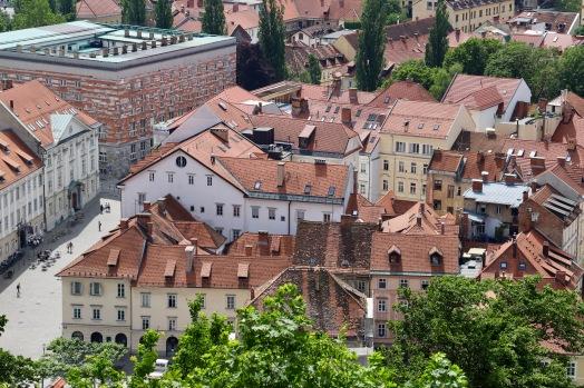 Blick von der Burg über Ljublijana