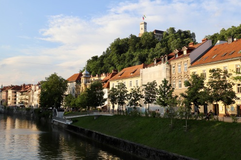Flussspaziergang in Ljublijana
