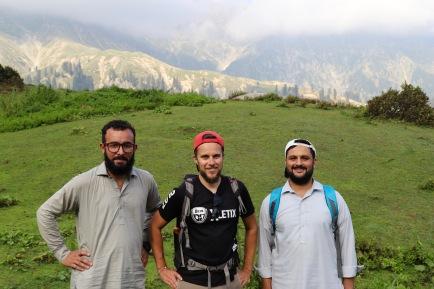 Alex mit unseren Guides Ihsan und Rashid