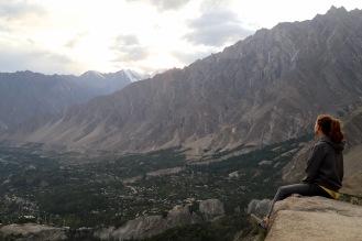 Blick über das wunderschöne Hunza Tal