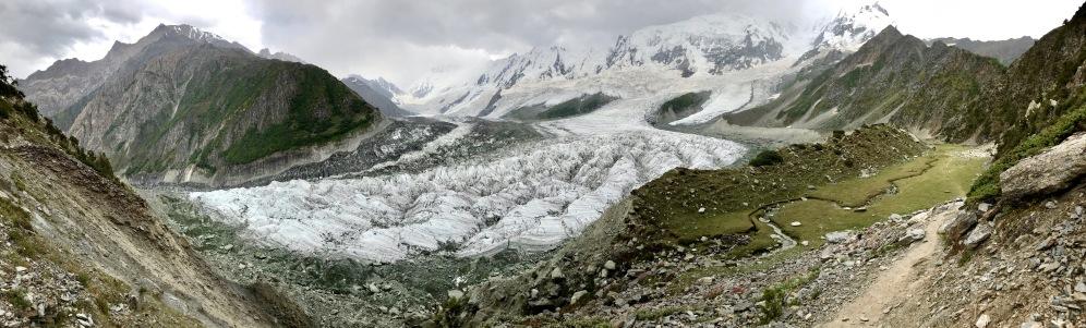 Panorama Rakaposhi, Bergkette, Gletscher