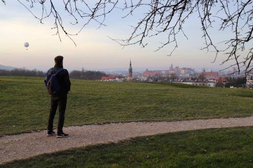 Ausblick vom Krakus Mound