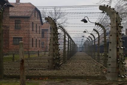 Gruselige Stimmung in Auschwitz