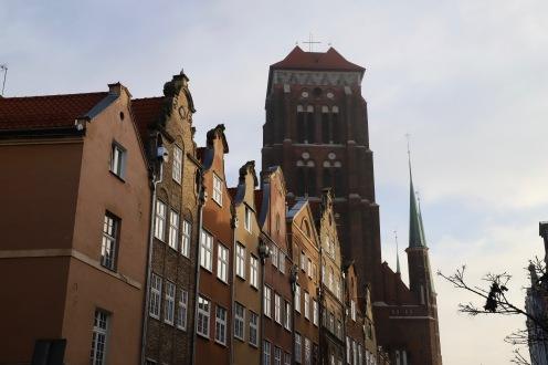 Nordische Häuschen und die Marienkirche