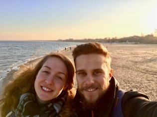 Selfie auf der Seebrücke in Sopot