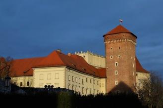 Wawel-Burg auf dem Wawel-Hügel